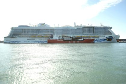 Carnival's first LNG-powered AIDAnova cruise ship makes history in Barcelona