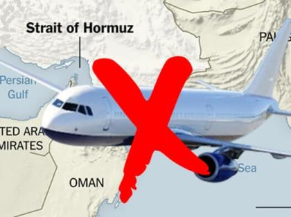 International airlines steer clear from Iranian airspace over Gulf