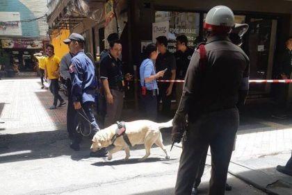 Bangkok Sala Daeng  Skytrain at tourist hotspot Silom Road under Bomb Attack