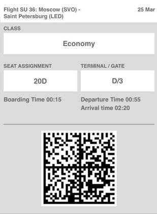 Aeroflot stops informing passengers