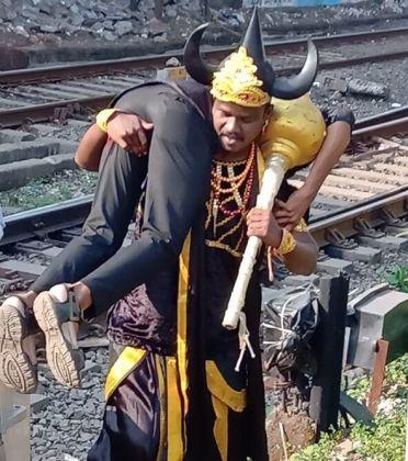 Indian Railways enlists horned Hindu god of death to keep trespassers away
