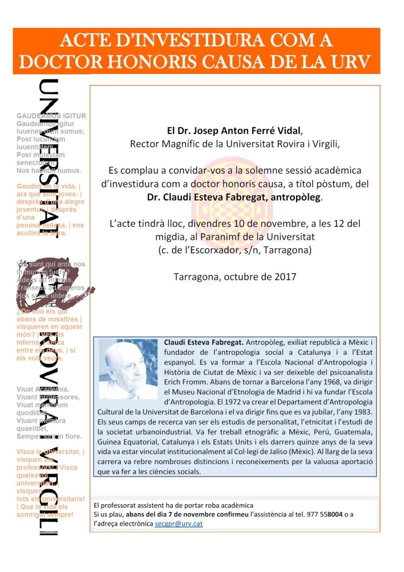 cartell doctor honoris causa