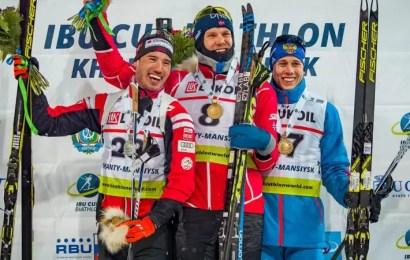 Российский биатлонист завоевал бронзовую Кубка IBU в Ханты-Мансийске