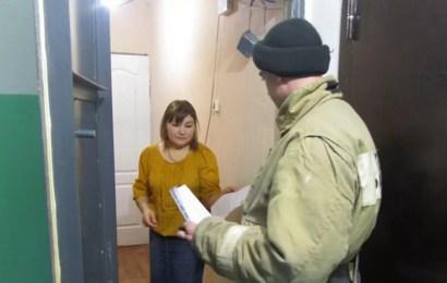 Нефтеюганские пожарные проводят профилактические рейды в жилом секторе