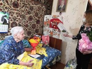 Сегодня 16.03.2021 мы поздравляем с 95-летним юбилеем ветерана Великой Отечественной войны-труженицу тыла, Шапошникову Нину Александровну.