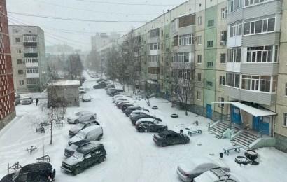 Зима не хочет уходить)