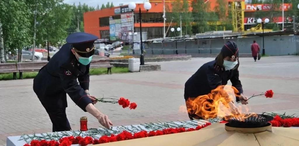 Полицейские Нефтеюганска приняли участие в акции «Я помню, я горжусь, служу России!».