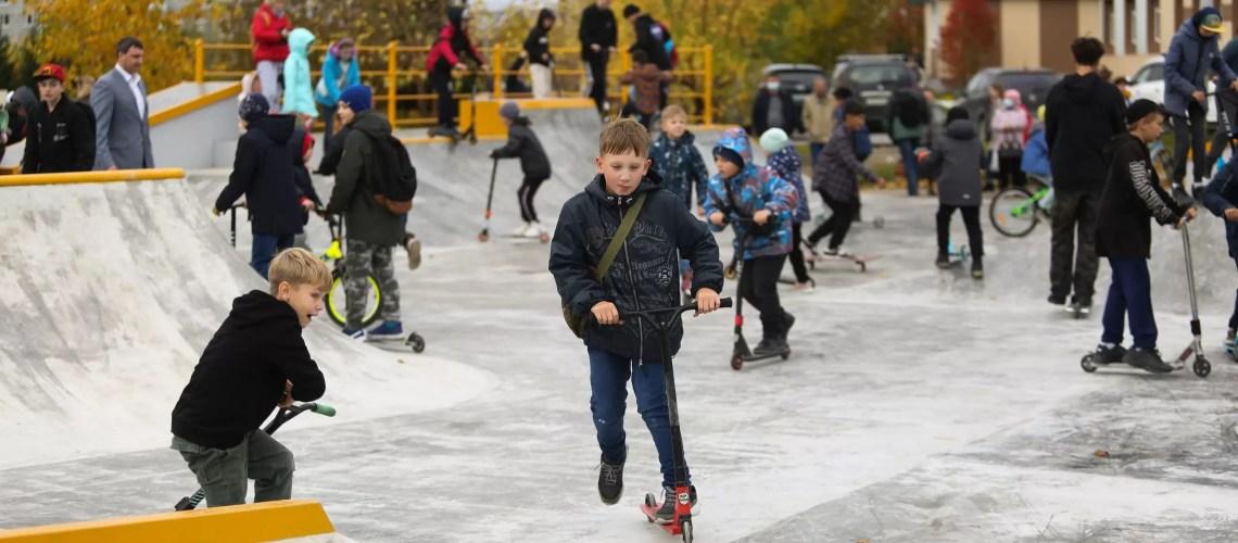 Новым скейт-парком в Нефтеюганске заинтересовались жители соседних городов