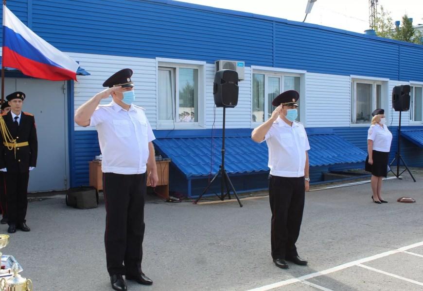 В отделе полиции Нефтеюганска состоялось торжественное мероприятие, посвященное Государственному дню флага.