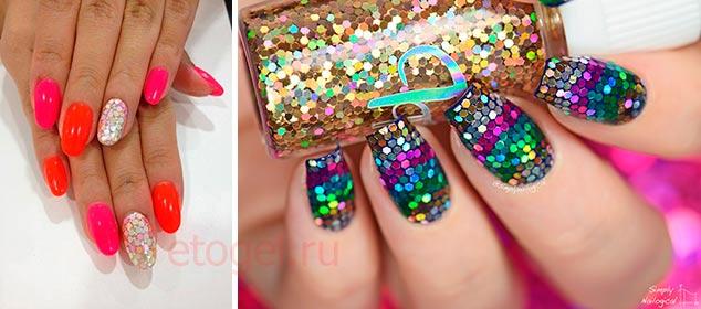 дизайн ногтей с камифубиками ромбами 5