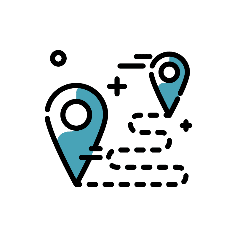 pictogramme chemin gps