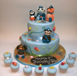 Octonauts cake and cupcakes