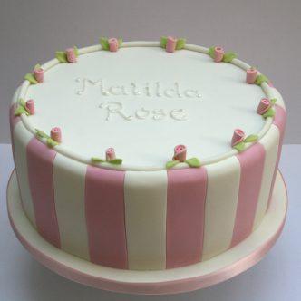 Spripey Christening Cake