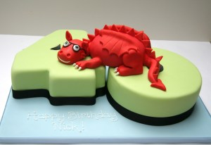 Personalised Welsh Dragon Cake