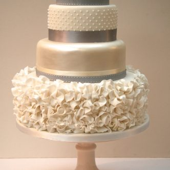 Ruffle dress cake