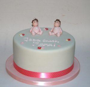 Twin Baby Girls Cake