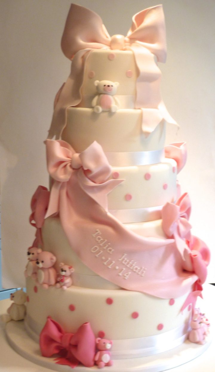 Large 5 Tier Baby Shower Cake