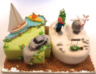 40th Birthday Cake with all his hobbies...