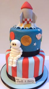 Rocket, Space and Astronaut Cake