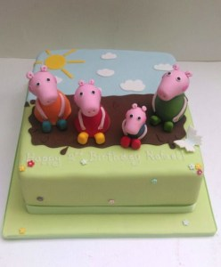 Peppa Pig Puddle Cake