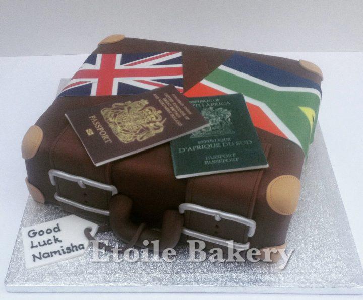 Suitcase Cake