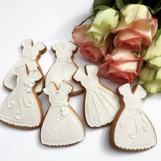 Wedding Dress Biscuits