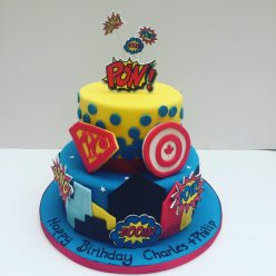 Pop Art Super Hero Cake