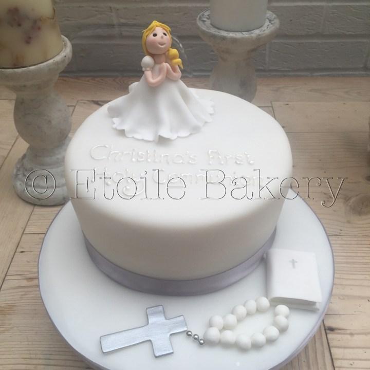Girl's Holy Communion Cake