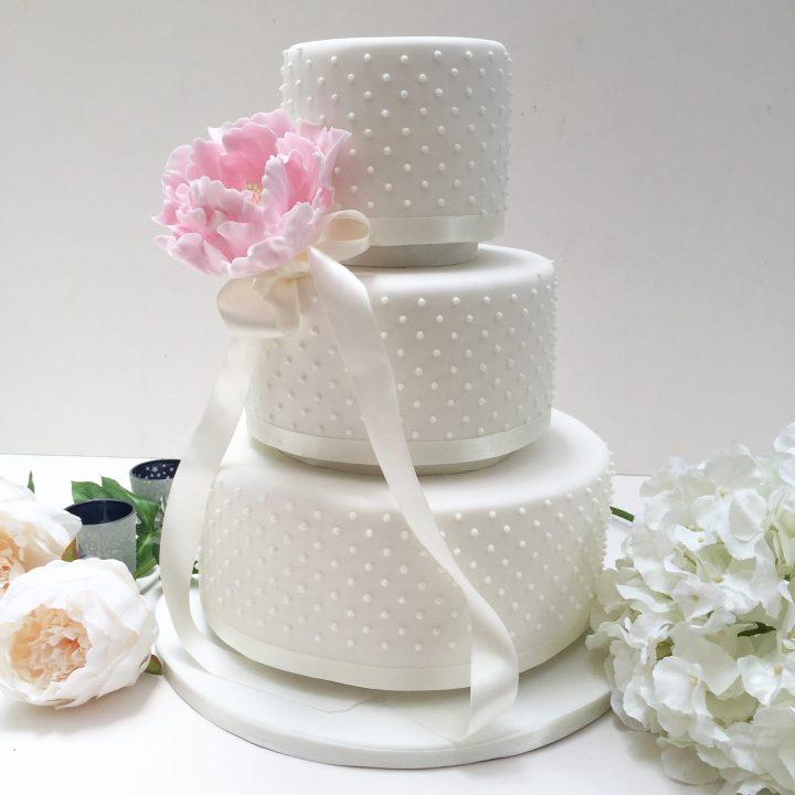 Dotty Wedding Cake