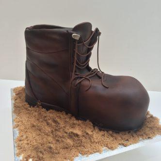 Walking Boot Cake