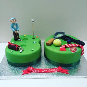Favourite Things 80th Birthday Cake