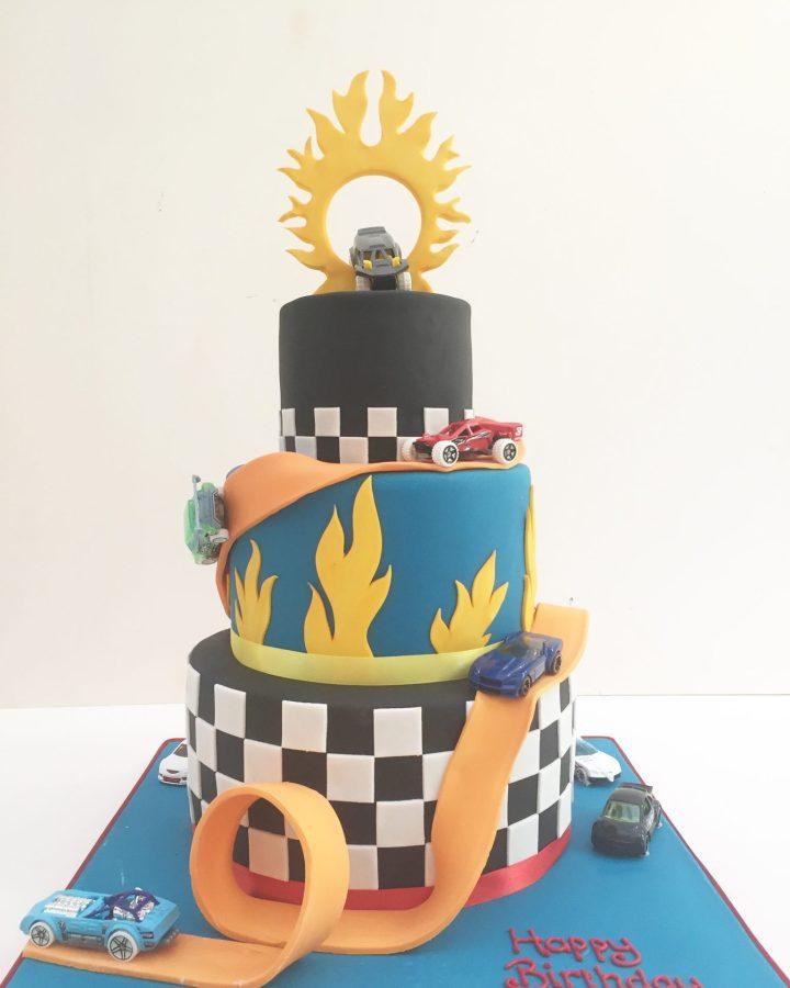 Hot Wheels Birthday Cake