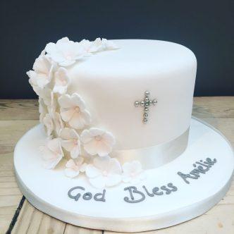 Blossom Christening Cake