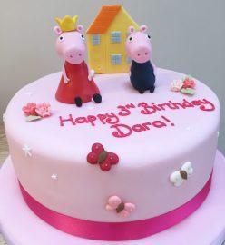 Pink Peppa Pig Cake