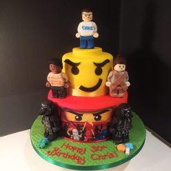 Personalised Lego Cake