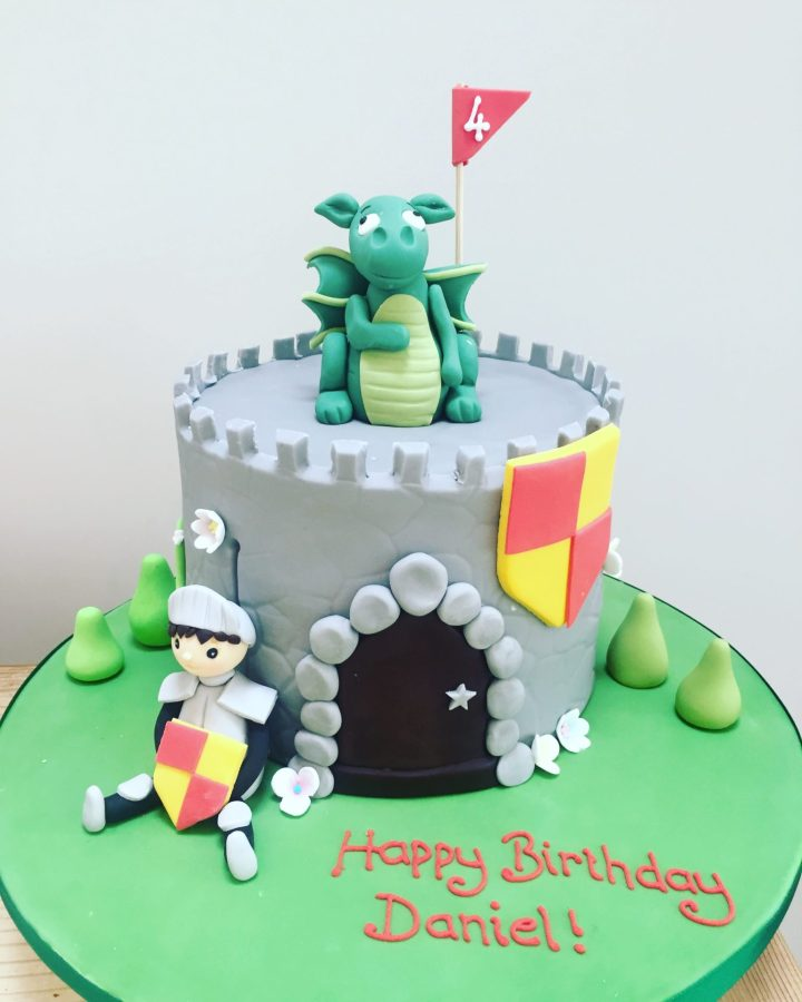 Castle, Knight and Dragon Cake