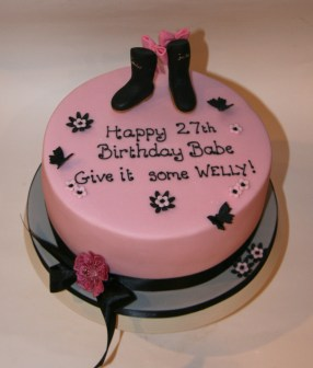 Favourite wellies - glam girlie cake