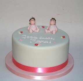 Twin Baby Girls Cake
