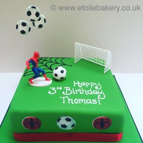 Spiderman and Football Cake
