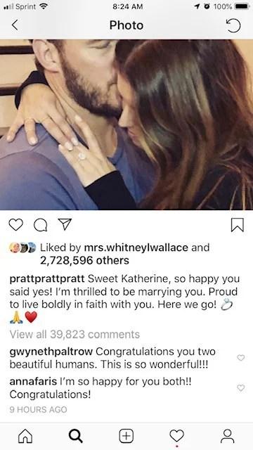 Anna Faris congratulates Chris Pratt on his engagement to Katherine Schwarzenegger