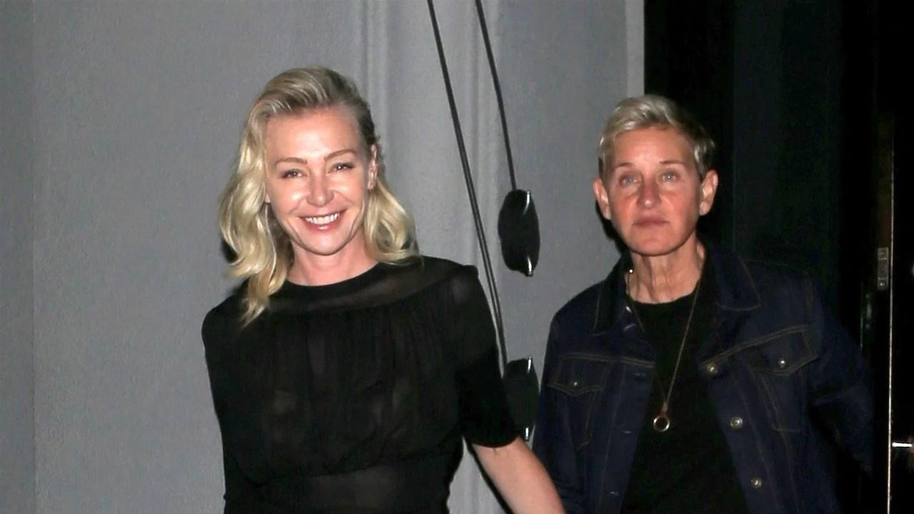 Ellen DeGeneres And Portia De Rossi Hold Hands On Date