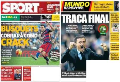 صحف برشلونة الاربعاء 10-2-2016