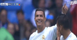اهداف مباراة ريال مدريد - ايبار 4-0 فى الدورى الاسبانى