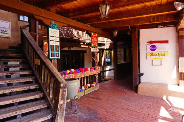 Des petits commerces dans le centre historique d'Albuquerque