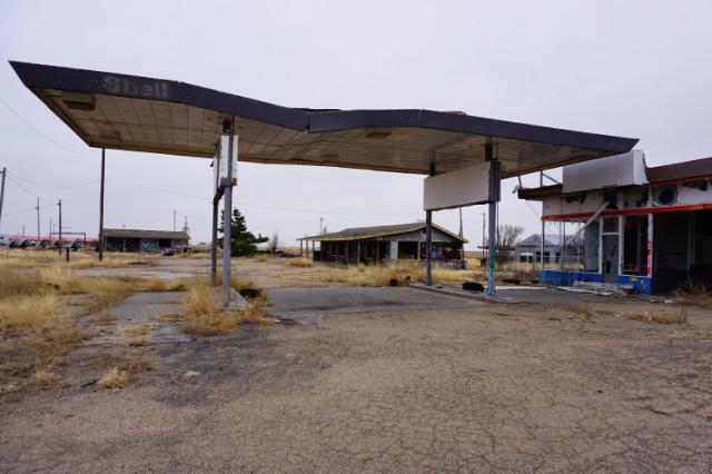 Une ancienne station d'essence