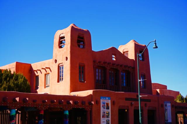 Un bâtiment de style pueblo, Santa Fe