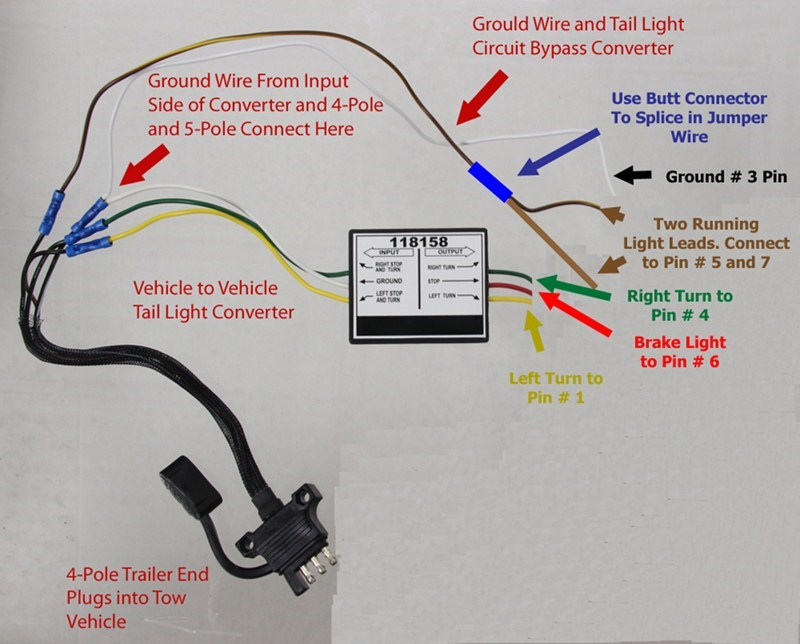 Converter To Wire 4-Way Connector On 2009 Jeep Compass To