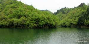 Lake in ZhangJiaJie mountains
