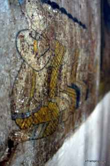 Walls in Wat Bo Temple