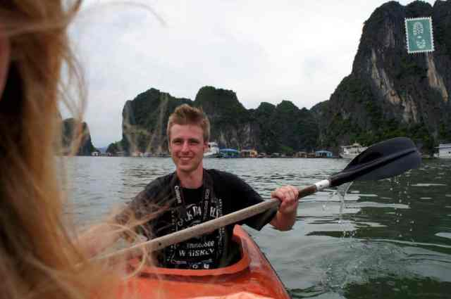 Kayaking in Ha Long, Vietnam, Summer 2012